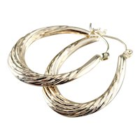 Twisted 14 Karat Gold Hoop Earrings