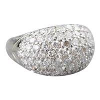 Diamond Bombe Statement Ring