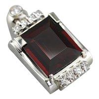 Upcycled Garnet and Diamond Pendant