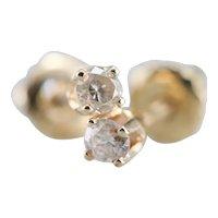 Vintage Diamond Screw Back Earrings