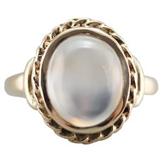Upcycled Moonstone Solitaire Ring