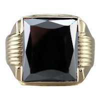 Vintage Hematite Statement Ring