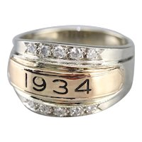 Men's Upcycled 1934 Diamond Statement Ring