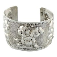 Blossoming and Blooming Sterling Silver Cuff