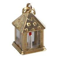 Vintage Enamel Lantern Charm