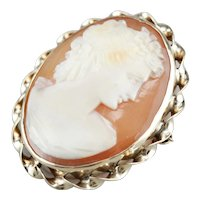 Retro Cameo Brooch or Pendant