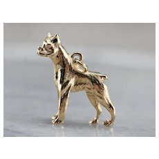 Vintage Boxer Dog Charm Or Pendant