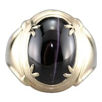 Mid Century Cat's Eye Sillimanite Ring