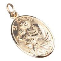 Vintage Saint Joseph Medallion