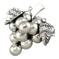 Botryoidal: Vintage Grape Bunch Pendant or Brooch