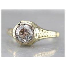Antique European Cut Diamond Engagement Ring
