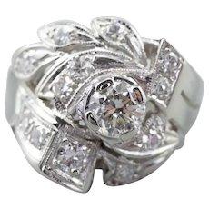Retro Era Diamond Cocktail Ring