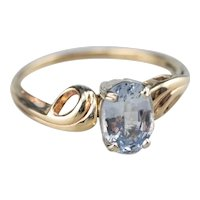 Sweet Vintage Sapphire Solitaire Ring