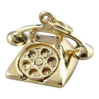Vintage Rotary Phone Charm