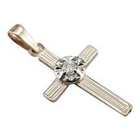 Vintage Ladies Diamond Cross