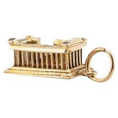 Ancient Greek 18Karat Golden Parthenon Charm