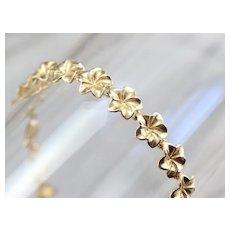 Pretty Flower Link Bracelet