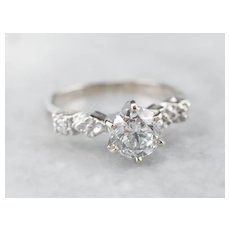 Pretty Floral Diamond Engagement Ring