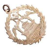 Antique Masonic Grand Council of Maine Pendant