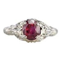 Romantic Ruby and Diamond Ring