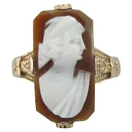 Victorian and Fine Shell Cameo Dinner Ring