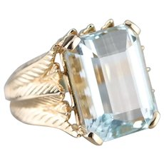Bold Brazilian Aquamarine Ring