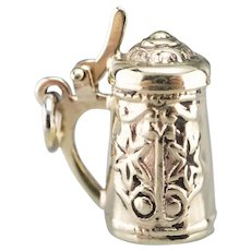 Beer Stein With Hinged Lid Charm