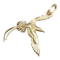 Vintage Flying Bird of Paradise Charm Pendant