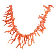 Antique Branch Coral Beaded Necklace