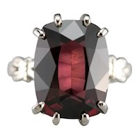 Upcycled Retro Rhodolite Garnet Solitaire Ring