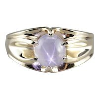 Men's Vintage Star Sapphire Solitaire Ring