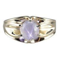 Men's Vintage Star Sapphire Solitaire Ring