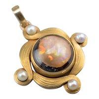 Upcycled Boulder Opal Pendant