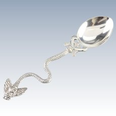 Snake and Fly Antique Sugar Spoon
