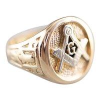 Men's Vintage Masonic Statement Ring