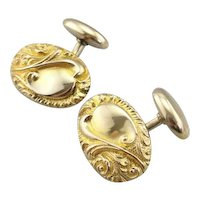 Handsome Victorian Era Cufflinks