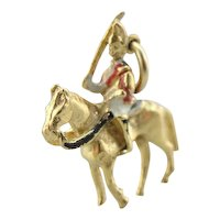 Lovely Enamel British Guard Atop Of Horse Charm