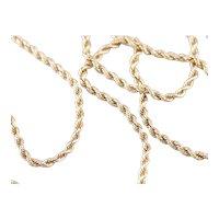 Vintage 14 Karat Yellow Gold Twist Chain