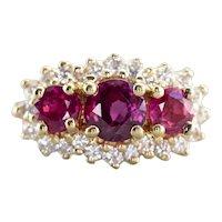 Ruby and Diamond Anniversary Ring