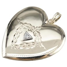 Upcycled Heart Shaped Diamond Locket