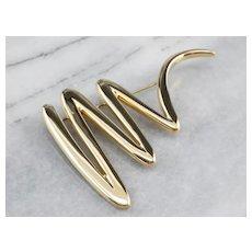 Tiffany & Co Paloma Picasso Zig Zag Pin