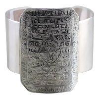 Ornately Engraved Wide Cuff Bracelet