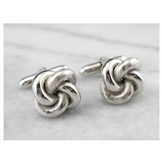 Twisted Knot Sterling Silver Cufflinks