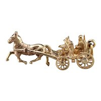 Vintage Horse and Carriage Charm
