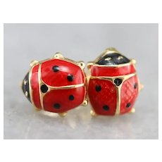 Little Ladybug Stud Earrings