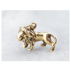 Standing Lion Charm or Pendant