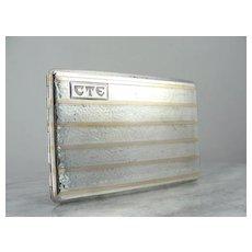 Art Deco Two Tone Cigarette Case