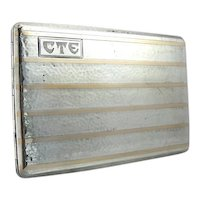 Art Deco Two Tone Cigarette Case