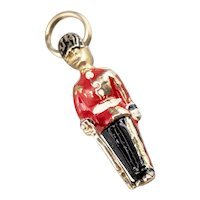 The Queen's Guard 10 Karat Gold and Enamel Charm