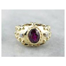 Stunning Ruby and Diamond Statement Ring